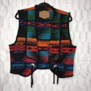 Woolrich Southwestern Blanket Aztec Wool Vest